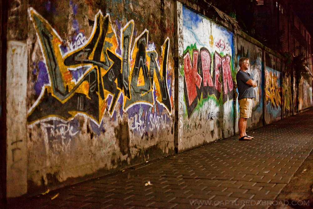 Graffiti in Indonesia Kuta