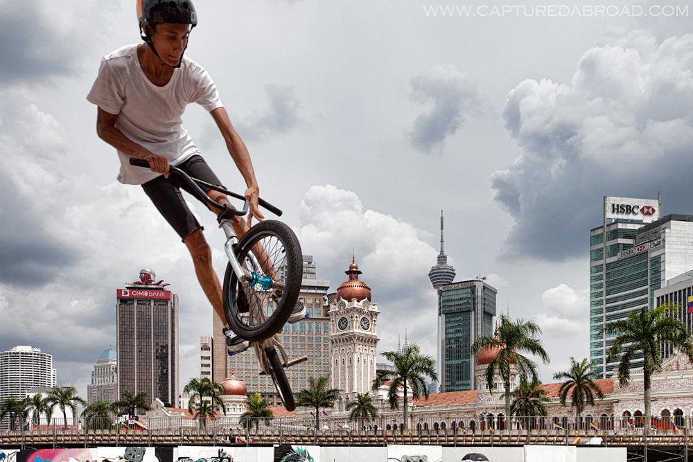 Flying high over Merdeka Square, Kuala Lumpur