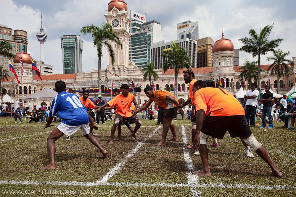 Kabaddi - Indian game played in Merdeka Square, Kuala Lumpur