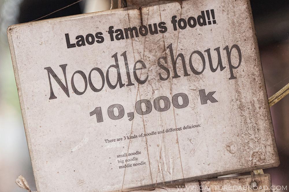 Noodle Shoup - Entertaining Laos english