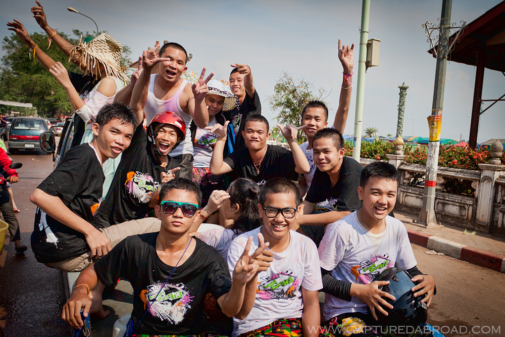 Pi Mai Celebrations in Vientiane, Laos, group photo