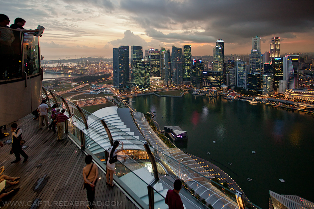 View from Marina Bay Sands, Singapore - cityscape