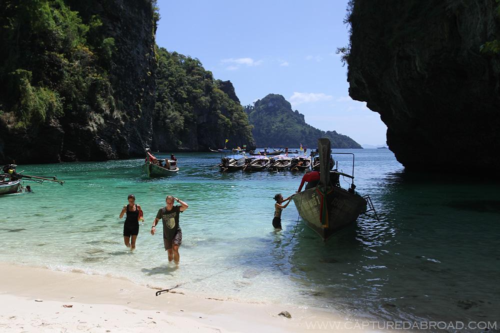 Longtail boats, Small island off Ton Sai, Krabi