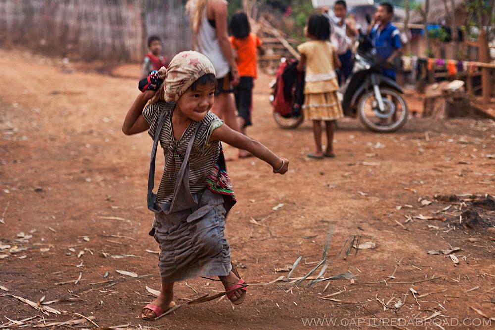kid at Lahu village outside of Chiang Mai