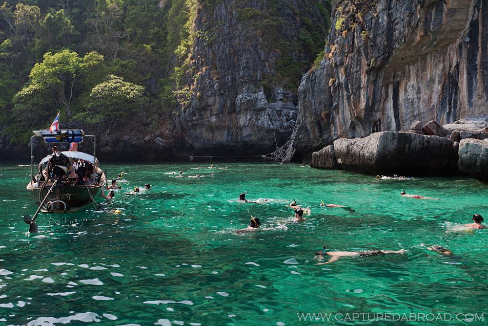 "Snorkelling at ""The Beach"" (Maya beach)"