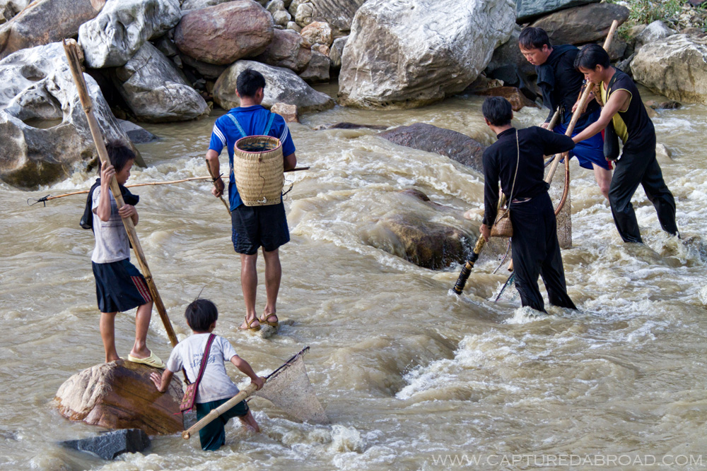 Laos Chai fishing, sapa