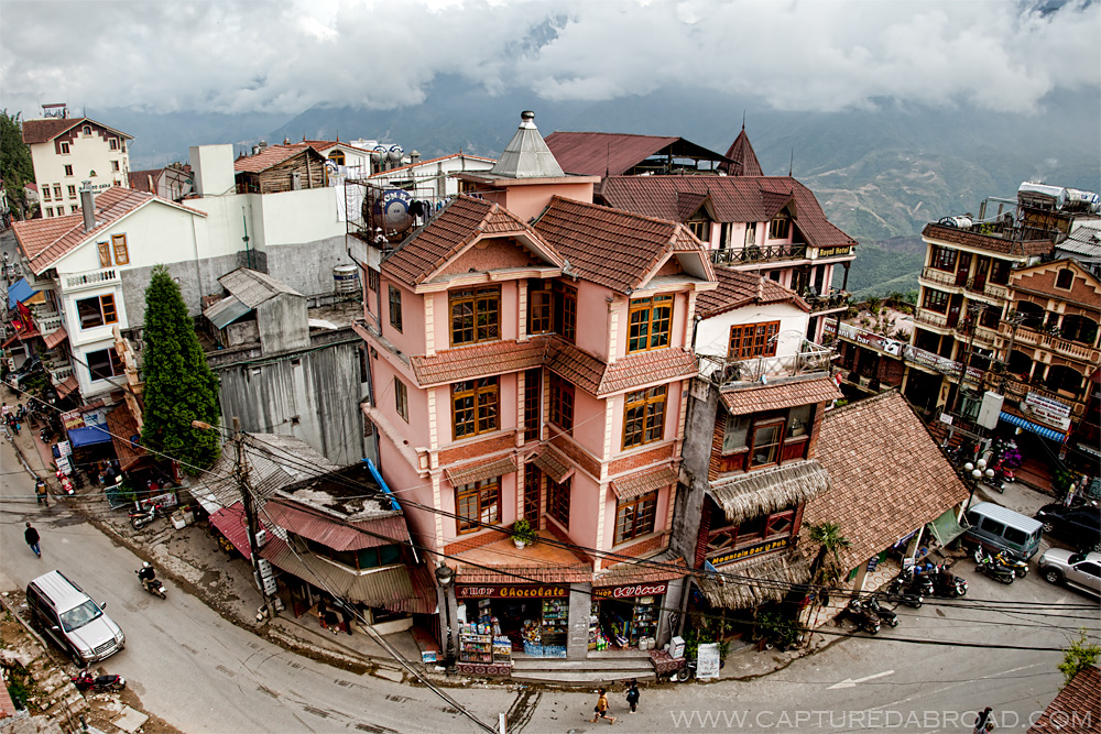 Buildings in Sapa, Vietnam