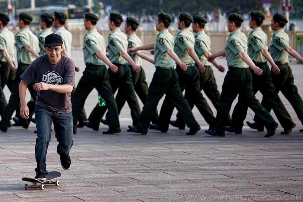 Testing the boundaries - Tiananmen square, Beijing
