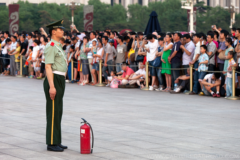 Flag burning prevention - Tiananmen square