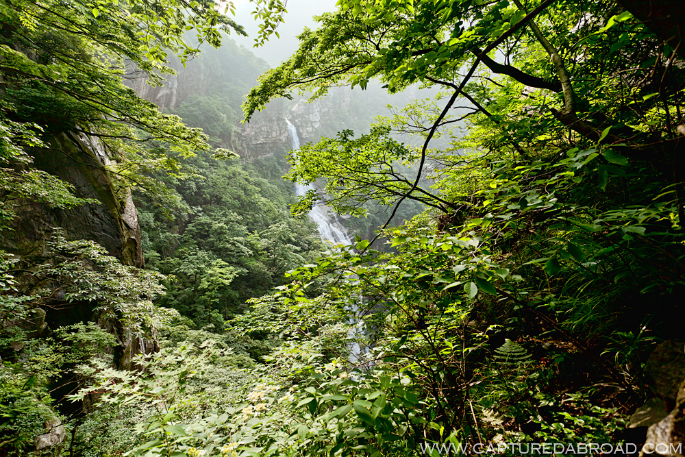 Mt Lushan three step waterfall