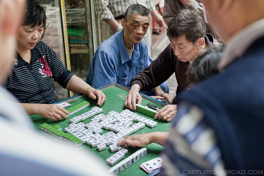 Street games in Shanghai