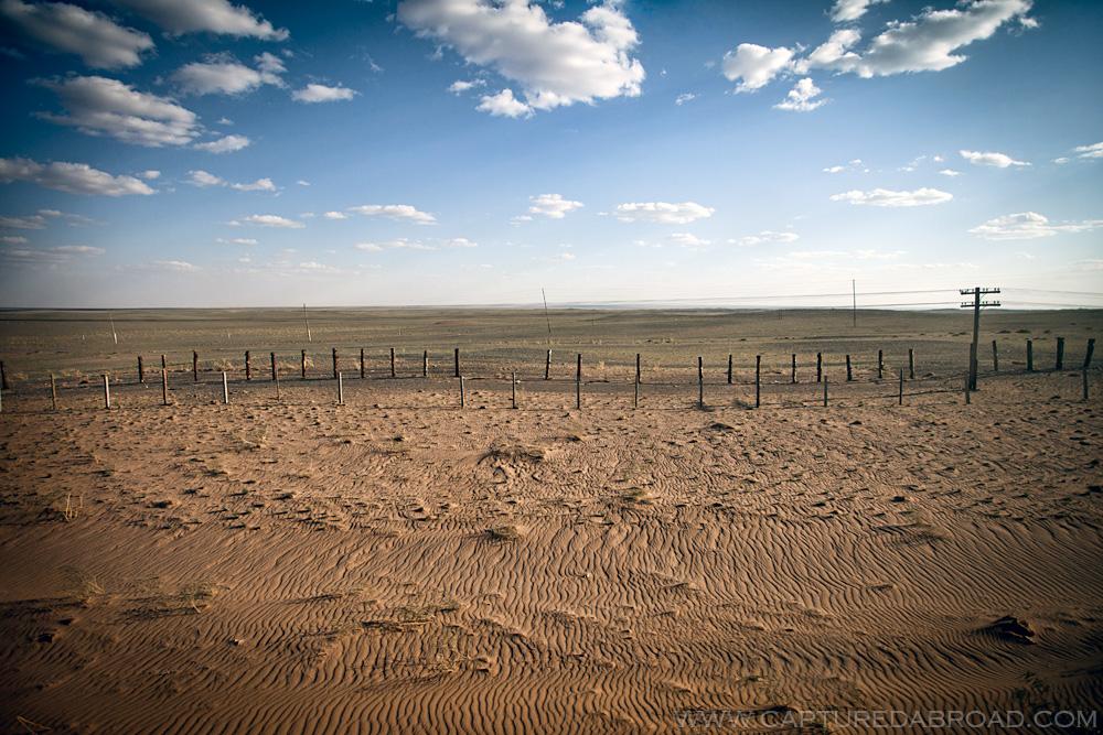 Gobi desert from the Trans Mongolian railway