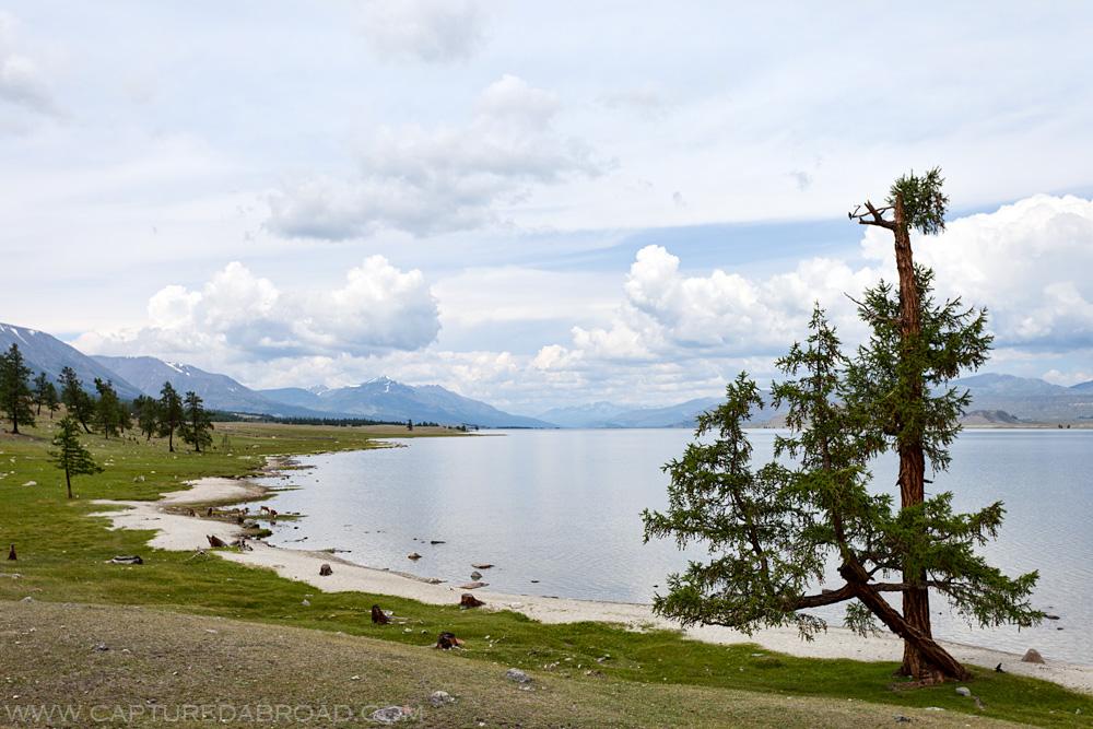 Khurgan Nuur (lake) in Bayan-Ölgii Mongolia