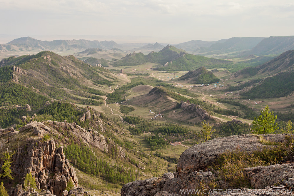 Overview of Terelj National Park, Mongolia