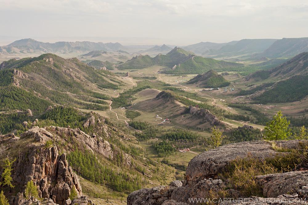 Overview of Terelj National Park, Mongolia