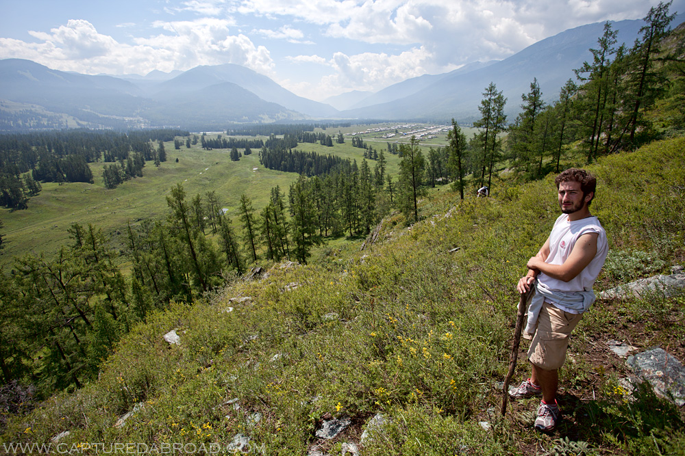 Hiking around Kanas lake in the Altai Mountains