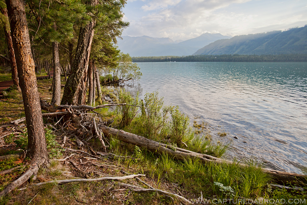 The tranquil Kanas lake in the Altai Mountains