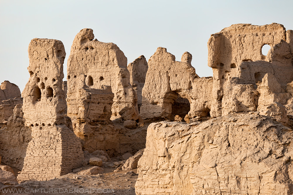 old ruins, china, xinjiang province