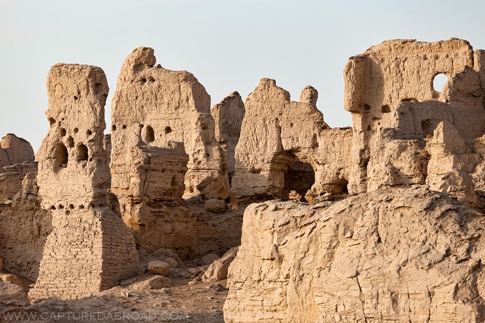 old ruins, china, xinjiang province