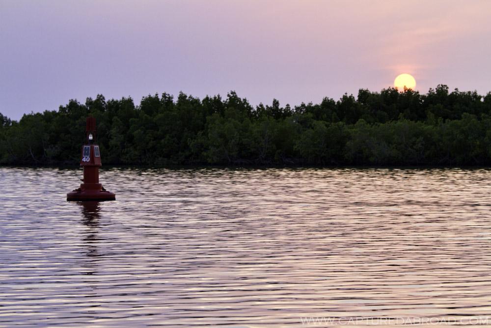 Cruising up the Casamance river towards Ziguinchor