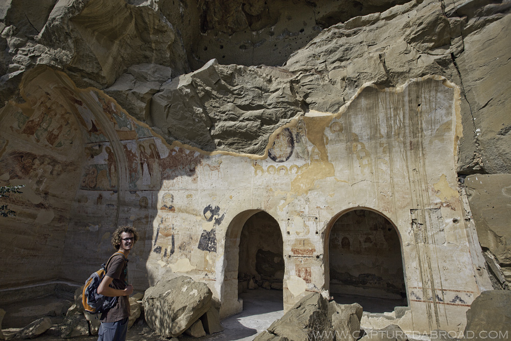 Discovering ancient artwork painted on the walls of caves
