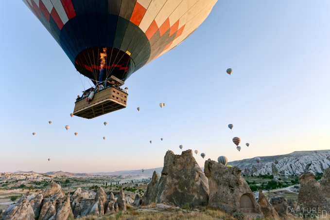 Ballooning over Cappadocia's fairy chimneys