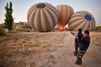 Hot Air balloons in Cappadocia's fairy chimneys