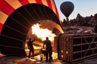 turkey, cappadocia, hot air balloon, startup, morning