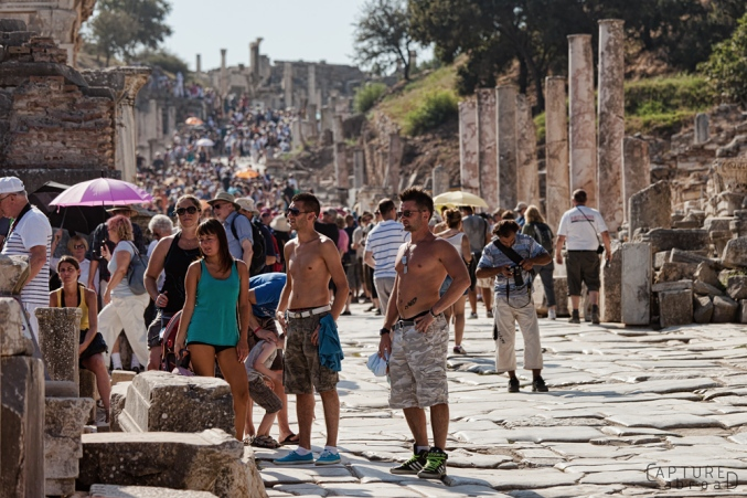 Crowds at Ephesus Ruins