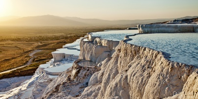 Sunset at Pamukkale - cotton mountain